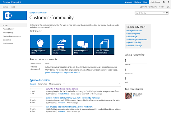 what is a sharepoint 2013 community site nothingbutsharepointcom - Sharepoint Design Ideas